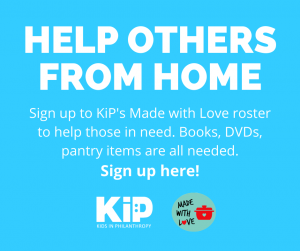 Made with Love call to action - help others from home